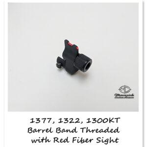 Crosman 1377, 1322 fiber sight barrel band adapter w/ threaded nose