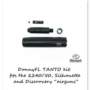 DonnyFL Airgun Moderator Tanto kit with front sight