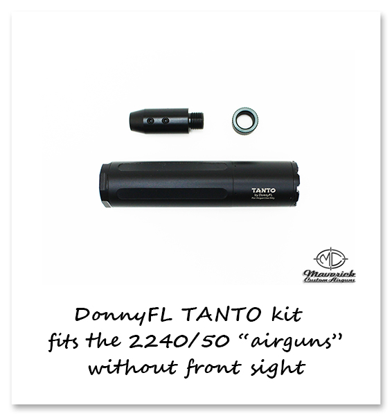 DonnyFL Airgun Moderator Tanto kit without front sight